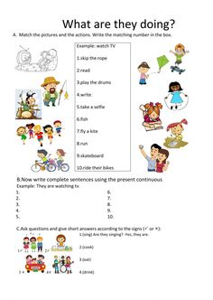 Present continuous interactive and downloadable worksheet. Check your answers online or send them to your teacher.