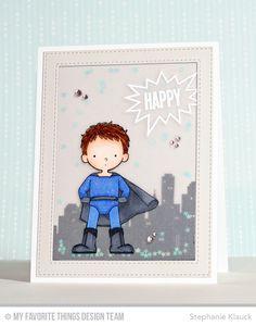 Super Boy, You're Super, Stitched Rectangle Frames Die-namics - Stephanie Klauck #mftstamps