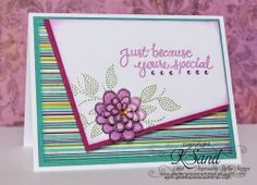 Luv 2 Scrap n' Make Cards: Just Because with Great Impressions Rubber Stamps