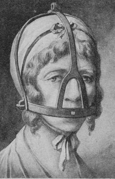 A scold's bridle is a British invention, possibly originating in Scotland, used between the and Century. It was a device used to control, humiliate and punish gossiping, troublesome women by effectively gagging them. Scolds Bridle, Maleficarum, Interesting History, Women In History, British History, Black History, Macabre, Vintage Ads, Old Photos
