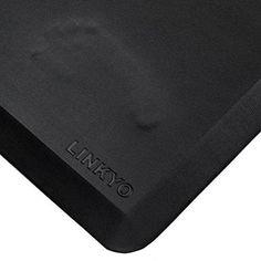 LINKYO Anti Fatigue Mat - Kitchen and Office Floor Standing Mat 20 x 39 x 3/4 in. (Black)
