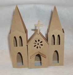 Check out this item in my Etsy shop https://www.etsy.com/listing/197750832/cathedral-diy-putz-style-cardboard