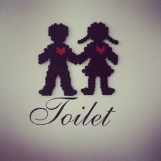 Toilet sign hama beads by hannaeliina