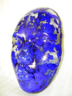 Fused & Slumped Glass: Blue specs by Christine Casady Taborga