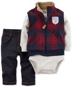 Carters Baby Boys Vest Sets Red *** For more information, visit image link. (This is an affiliate link) Boys And Girls Clothes, Trendy Baby Clothes, Baby Kids Clothes, Party Clothes, Baby Outfits, Toddler Boy Outfits, Baby Set, Baby Boy Vest, Camo Baby