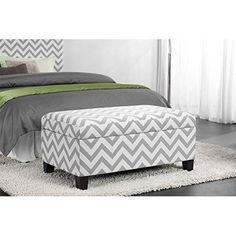 Bedroom Storage Ottoman Bench Trunk Upholstered Fabric Footstool Pouf Cushioned #DorelLiving #Footstool