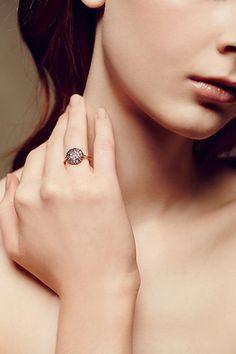 Moonstone Disc Ring in 14k Rose Gold #anthropologie