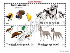 Farm Animals Emergent Readers - 2 Booklets from Sue Summers on TeachersNotebook.com (6 pages)  - Farm Animals Emergent Readers - 2 Booklets