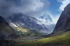 Valley. Environment , Sergey Zabelin on ArtStation at https://www.artstation.com/artwork/VGqlX