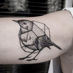geometric bird cage