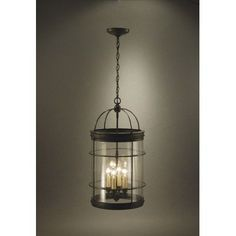 Northeast Lantern Chandelier 4 Light Drum Chandelier Finish: Verdi Gris, Glass Type: Clear