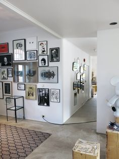 Big wall of smaller art and photography