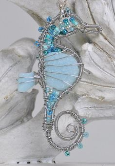 Sea Glass Crafts | Mist - Wire Wrapped Sea Glass by ~BlackBunnyCrafts on deviantART