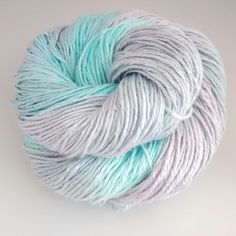 Double knitting yarn. Hand-dyed DK pure linen. Aqua Grey. by EcoStitchLinen on Etsy