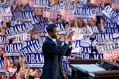 "'I don't want to present myself as some sort of singular figure,"" - Barack Obama, in January 2008, right as primary season was kicking off."