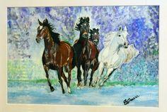 CAVALLI  acrilic on canvas sold