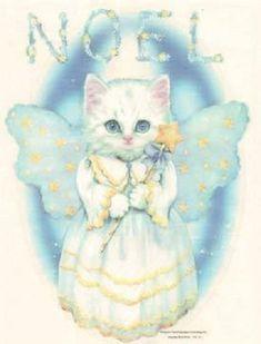 TSHIRT Noel Flitten Kitten  Angel  T Shirt by AlwaysInStitchesbyLi, $12.50