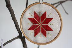 Nordic/Scandinavian Cross Stitch Christmas Star by CabinFeverGoods