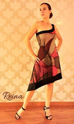 Vestido de Tango asimétrica con una correa por reinatango en Etsy