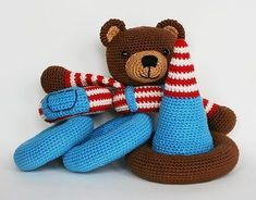 Crochet Stacking toy pattern by Christel Krukkert