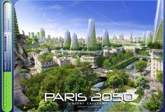 """2050 Paris Smart City by Vincent Callebaut Architectures. Paris Smart City"""" is a research and development project for Paris Green Architecture, Futuristic Architecture, Creative Architecture, Future City, Vincent Callebaut, Eco City, Sustainable City, Sustainable Design, Grand Paris"""