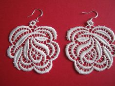 Lace Earrings, Crochet Earrings, Vintage Lace, Jewelry, Fashion, Moda, Jewlery, Jewerly, Fashion Styles