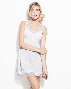 Adry Babydoll Dress in White.