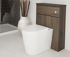 Mocha - Deep tones bring warmth to the room and create a unique look, whilst the woodgrain texture works to add depth to a bathroom.