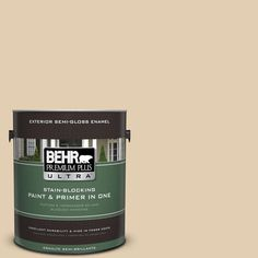 BEHR Premium Plus Ultra Home Decorators Collection 1-gal. #hdc-AC-09 Concord Buff Semi-Gloss Enamel Exterior Paint