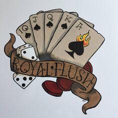 New painted tattoo toilet seat royal flush tattoos тату, рисунки, эскиз. Card Tattoo, 1 Tattoo, Tatuaje Old School, Painting Tattoo, Tattoos Gallery, Poker Chips, Sleeve Tattoos, Sketches, Retro