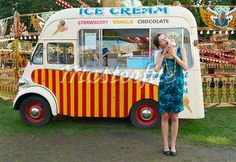 vintage looking ice cream carts trucks - Google Search