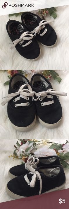 Toddler shoes These can totally be unisex, but I used them for my baby girl. They were so cute with little skinny jeans and shorts. Black and white. The laces are not perfectly white. Shoes Sneakers