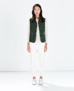PADDED vest from Zara