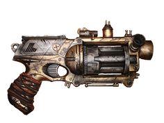 Bügelbild Steampunk Waffe Pistole für helle Stoffe DIN A4 oder A5 NEU | eBay