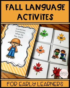 This predictable reader is a must have for your speech room or preschool classroom this fall.  Fall themed hands-on activities will target vocabulary, colors, concepts and game play. Black lined book printables are also included. These are great for home reinforcement or co-treats with the OT. Also suitable for ESL., ELL and kindergarten. Click here to see some of the other language based activities that are included!