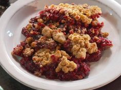Get Chunky Blackberry and Peanut Butter Crumble Recipe from Food Network