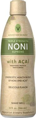 Discover two healthful gifts from paradise with the goodness of Noni Supreme. This exotic supplement features Noni, which is sourced from Tahiti and Hawaii. Noni is a tropical fruit that's rich in beneficial phytochemicals to promote overall health. IT also includes the Brazilian super fruit Acai, a natural source of antioxidants. #herbalsupplements #nonibenefits #acaibenefits