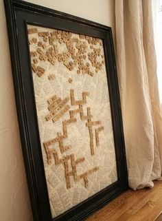 Interactive art! Have an ongoing game of scrabble in the hallway, living room or wherever you choose to hang this awesome DIY.