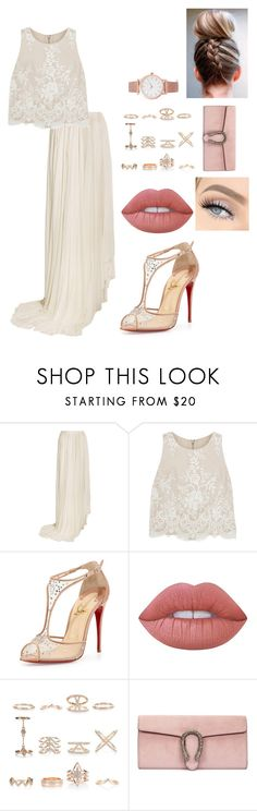 """""""Untitled #50"""" by dope-tiara ❤ liked on Polyvore featuring Vionnet, Alice + Olivia, Christian Louboutin, Lime Crime, New Look, Gucci and Larsson & Jennings"""