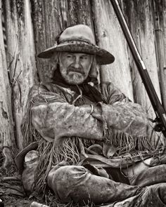 mountain man at Ft. Bridger rendezvous 2014