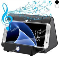 Wireless Sensor Music Speaker Wireless Cordless Stand Induction Speaker w/ 3.5mm Audio Port for Smartphone ESK-514949