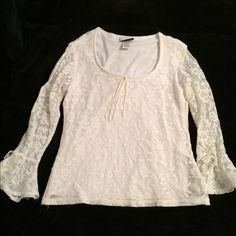 Fashion Bug White Lace Top Elegant lace top! Worn once! Perfect for business casual attire! Fashion Bug Tops Blouses