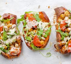 """707 Likes, 34 Comments - Jessica Sepel - JSHealth (@jshealth) on Instagram: """"Obsessed with these easy Spiced Chickpea & Tahini Stuffed Sweet Potatoes 😀 Such a great veggie…"""""""
