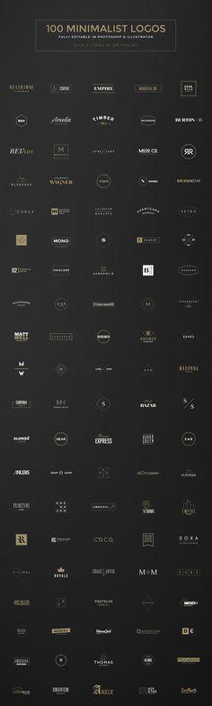100 Minimal Logos on