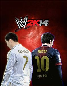 This is a WWE wrestling match between Messi, Neymar and Cristiano Ronaldo , Gareth Bale. Who is the best Football Player in a WWE Match. Lionel Messi, Messi Vs Ronaldo, Cristiano Ronaldo, Messi And Neymar, Messi 10, Gareth Bale, Wwe 2k14, Argentina National Team, National Football Teams