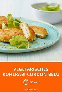 Vegetarisches Kohlrabi-Cordon Belu