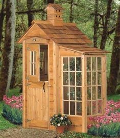Garden Shed And Accents Plan It's always nice to add a unique touch to your landscaping! This Garden Shed And Accents Plan does just that with its unique birdhouse cupola, over the door birdhouse and #pergolaideas #buildingagardenshed #GardenShed #shedideas