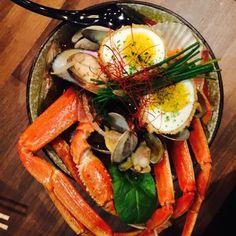 Hawker Eats - San Francisco, CA, United States. Ebirah ramen, extra spicy w/ snow crab instead of lobster. MMMHMMM.