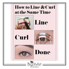 The quick liner-and-lash technique that you've got to try! Apply a thin layer of eye liner onto your eye lash curler before curling your eye lashes! #eyes #liner #lashes #curl #line #trick #beauty #BigStylist