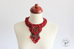 Necklace made from coral.
